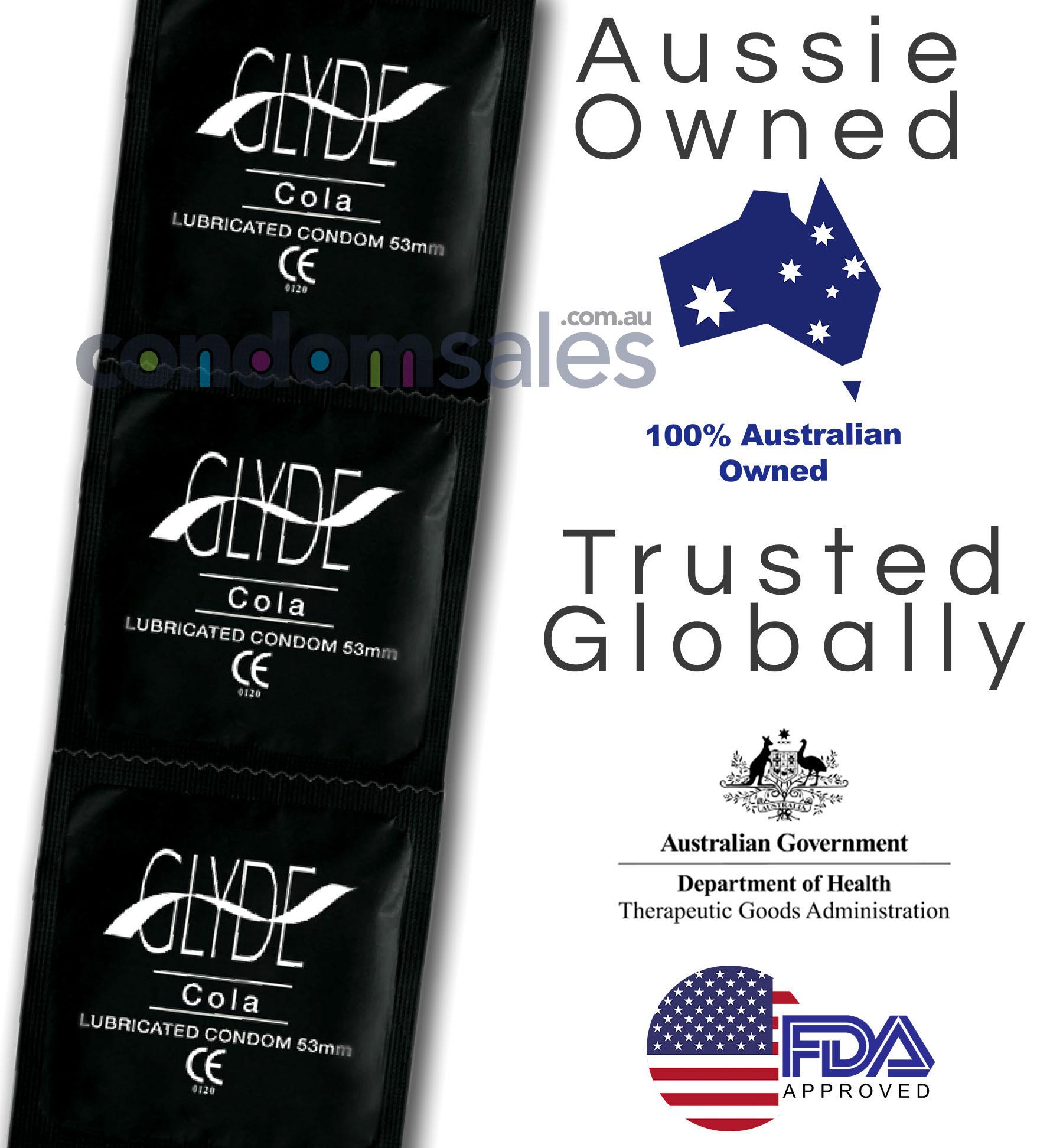 Glyde Black - Cola Flavoured Condoms (100 Bulk)