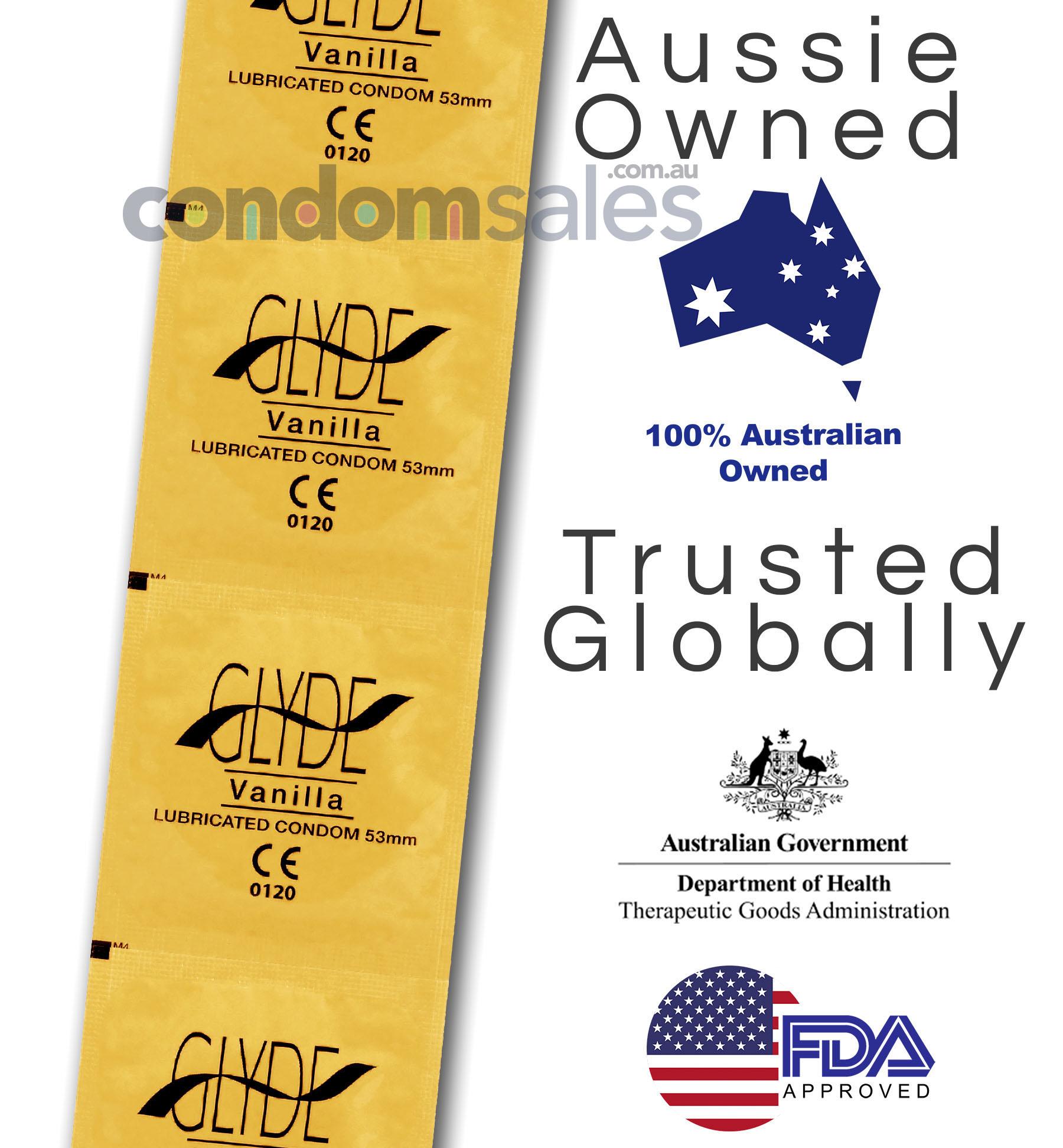 Glyde Vanilla Condoms (24 Loose Packed) - Buy Condoms Online