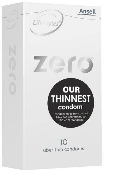 Ansell Zero Condoms 10 Pack