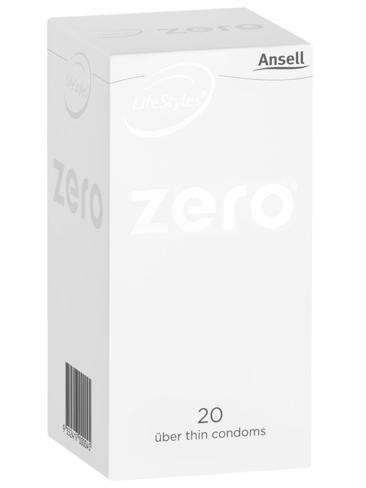 Ansell Zero Condoms 20 Pack - Buy Condoms Online