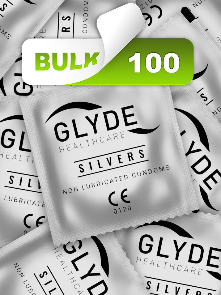 GLYDE Silvers Non-Lubricated Condoms (100 Bulk Pack)