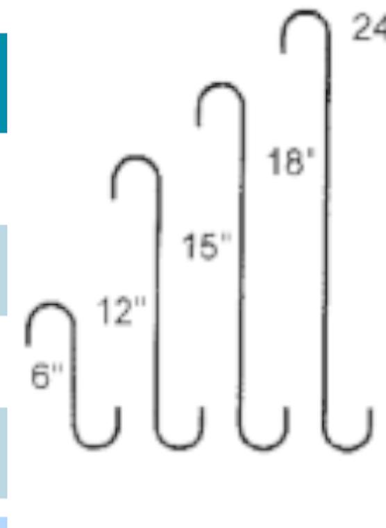 Hanging basket S hooks