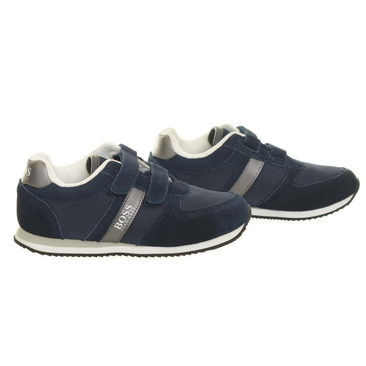 on feet images of cozy fresh hot sale online Hugo Boss Boys Trainer Navy Shoe