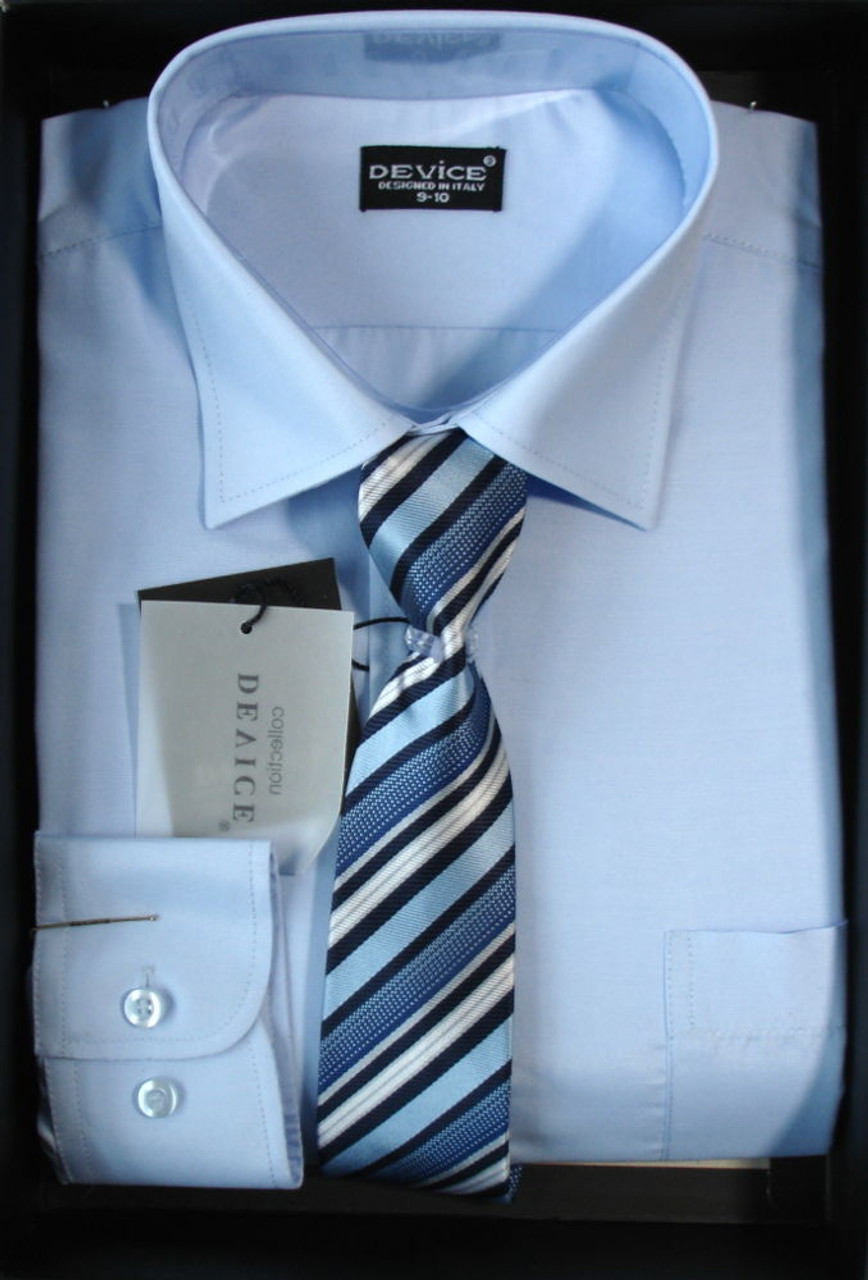 cb37eafe8 Shirt And Tie Set Boys Formal/Smart Shirt Device Ideal For Any Occasion  Ages 6M