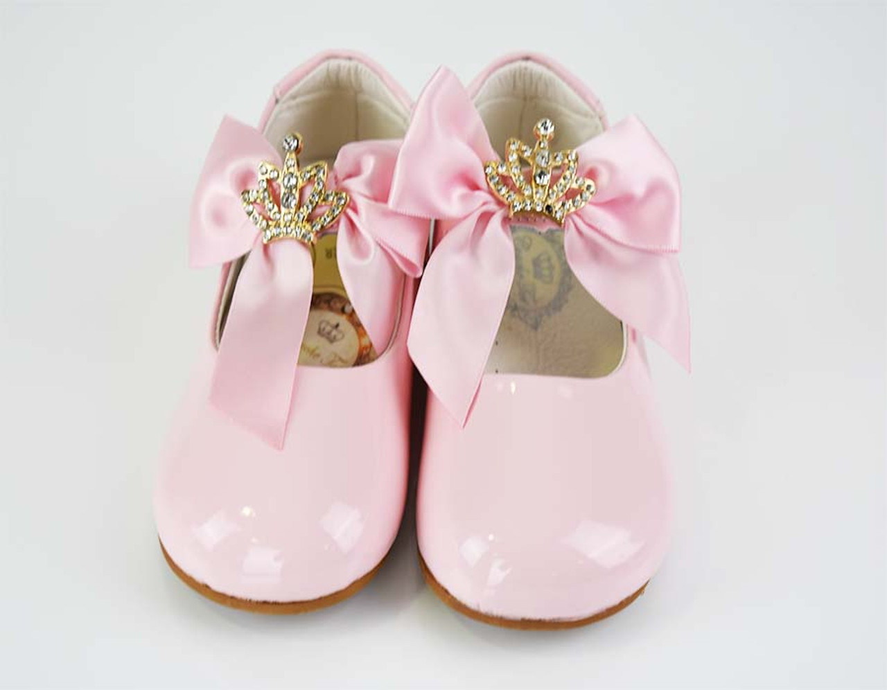 790046df4 Spanish ❤️COUCHE TOT Girls Pink Patent Bow Shoes (LIZZY)