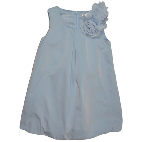 Microbe by Miss Grant Sky Blue Girls Designer Silk Dress WAS £92 NOW £36.99