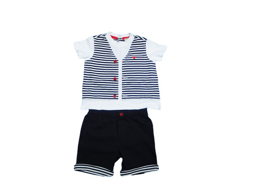 Armani Baby stripe gift set with T-shirt and Trousers (AKT03)