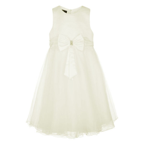 Girls Big Bow Glitter Dress For Wedding Bridesmaids Flowergirl