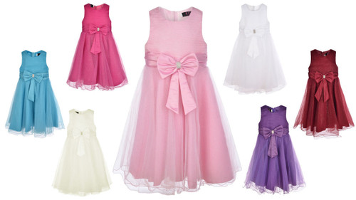 All colours girls party dresses