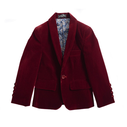NEW ✅KIDS✅BOYS VELVET BLAZER SUITE JACKET - WINE