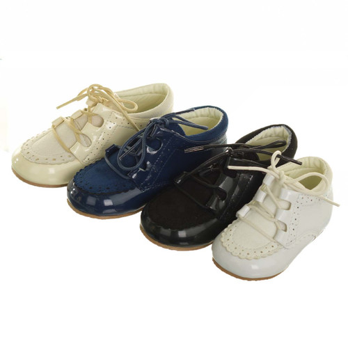 Boys High Top Lace Up Shoes