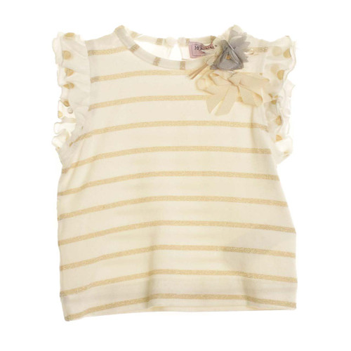 Monnalisa Girls Striped T- Shirt