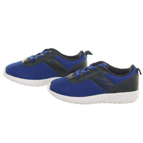 Hugo Boss Electric Blue Boy's Trainers Shoes