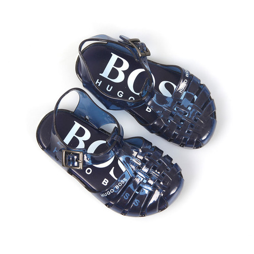 4ff77a7e80d ... Boss Kids Navy Jellies Sandals Spring Summer 18 ...