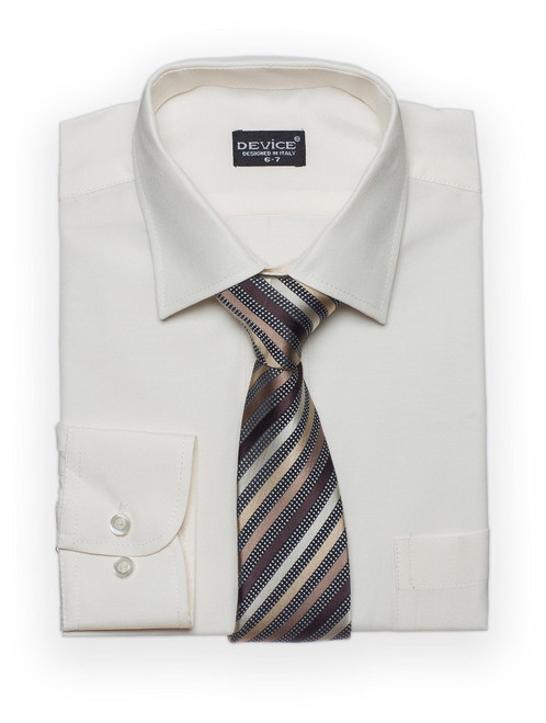 Shirt And Tie Set Boys Formal/Smart Shirt Long Sleeved By Device Ideal For Weddi