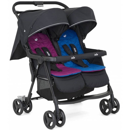 Joie aire twin stroller - rosy/sea (2020)