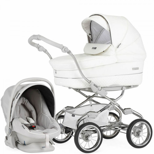 Bebecar Stylo XL Combination Travel System Pack, White Delight Special Edition