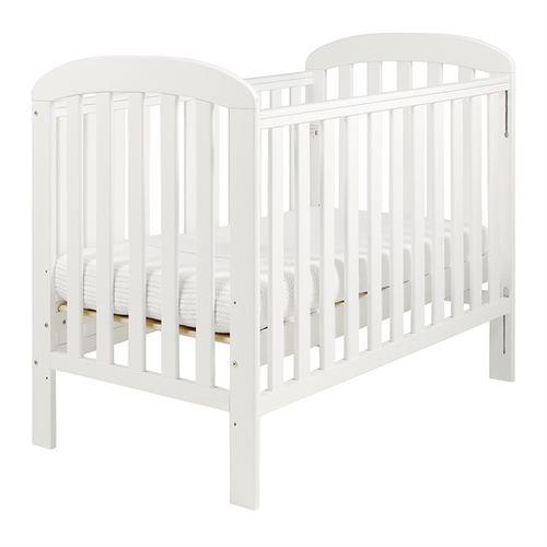 East Cost- Anna Dropside Cot, White +  Free  Mattress