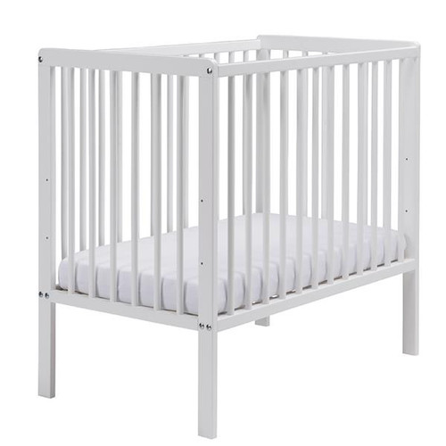 East Coast -Carolina Space-Saving Cot With Mattress, White