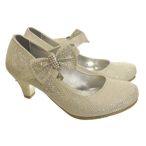 New Girls /Children/kids  Party Shoe -Couche Tot Silver WAS £24.99 NOW £12.99
