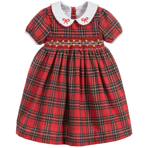 Beau KiD Red Cotton Tartan Dress