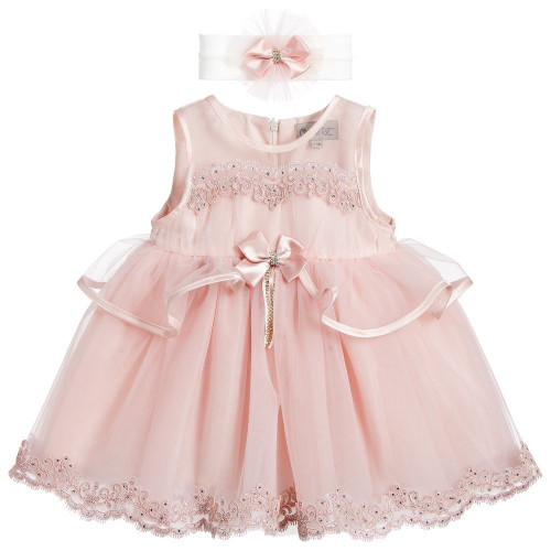 Beau KiD Girls 2 Piece Party Dress - Dusky Pink