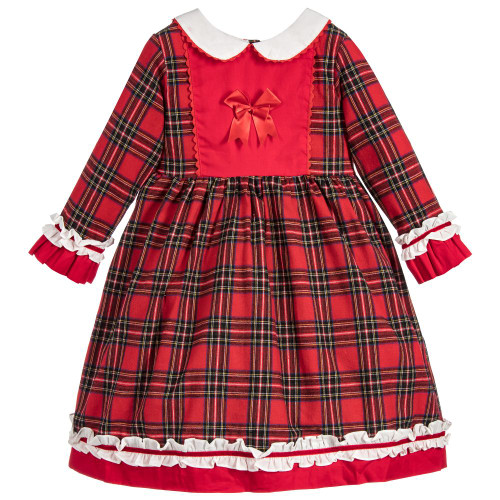 Couche Tot Red Tartan Dress