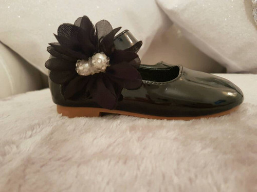 COUCHE TOT GIRLS BLACK/RED/PINK/WHITE  FLOWER GIRL/SPECIAL OCCASIONS SHOES