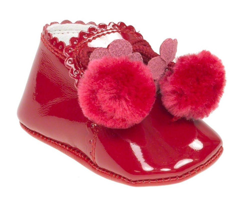 COUCHE TOT POMPOM BOOTIES