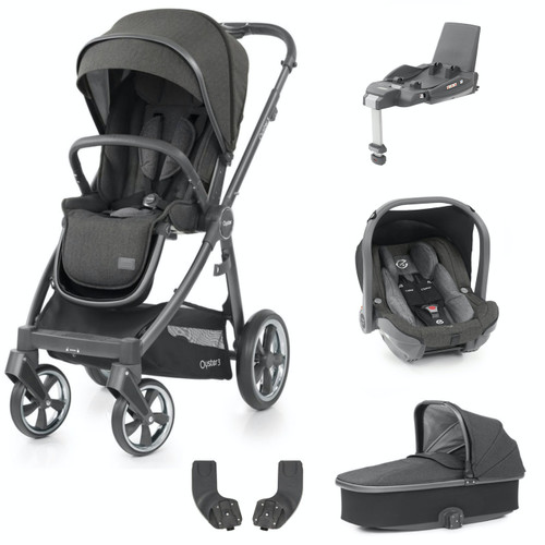 Babystyle Oyster 3 Essential 5 Piece Package, City Grey Chassis/Pepper