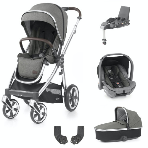 Babystyle Oyster 3 Essential 5 Piece Package, Mirror Chassis/Mercury