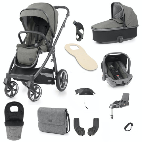 Babystyle Oyster 3 Ultimate 12 Piece Package, City Grey Chassis/Mercury