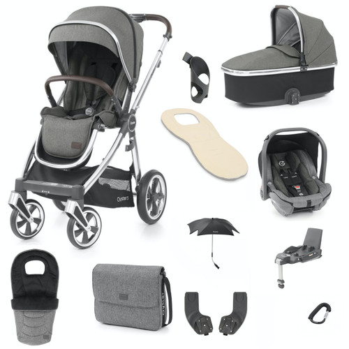 Babystyle Oyster 3 Ultimate 12 Piece Package, Mirror Chassis/Mercury