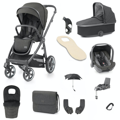 Babystyle Oyster 3 Ultimate 12 Piece Package, City Grey Chassis/Pepper