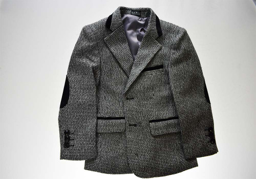 Boys Casual Childrens Grey Tweed Blazer Jacket