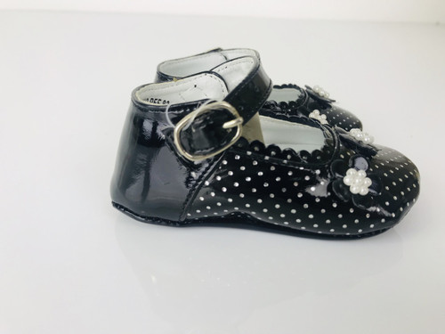 30c77418654b Couche Tot Baby Girls Polka Dot Pram Shoes (REF 2818)