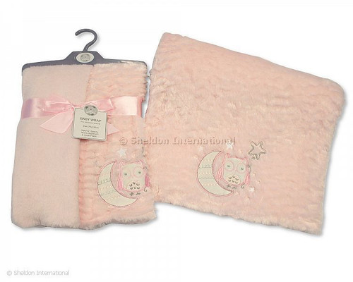 Baby Soft Wrap - Owl - Pink