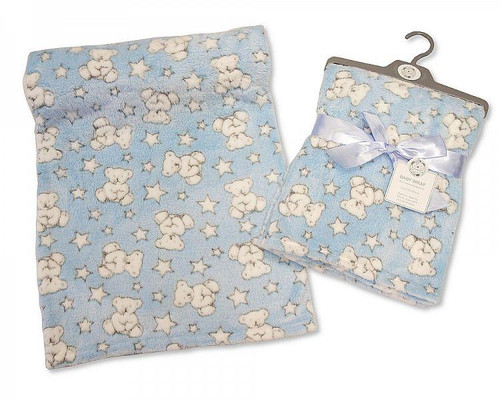 SKY BLUE BABY WRAP - TEDDY - BOYS
