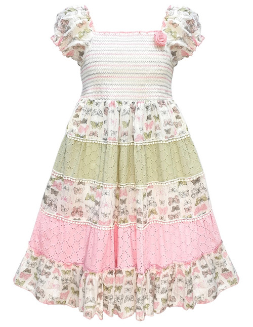Domino Girl Toddlers Floral Print layered Gypsy Sun Dress