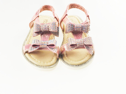 Girls Ribbon Bow Diamante Sandals