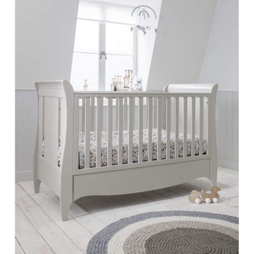 Tutti Bambini Roma Space Saver Sleigh Cot Bed + Drawer (Linen)