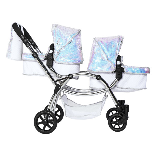 Roma Polly Amy Childs Twin Dolls Pram - Mermaid 3-16 years