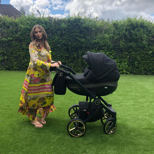 Roma Bambino SE Travel System Amy Childs Collection - Gold FREE CAR SEAT BASE