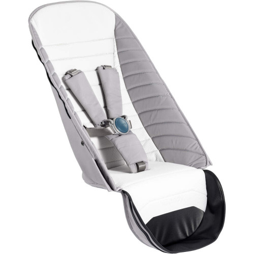 iCandy Peach 2nd Seat Fabric  and bumper bar (Dove Grey)