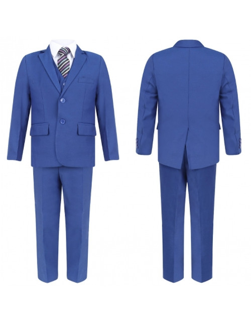 KIDZ ROYAL BLUE FIVE PIECE FORMAL SUIT (1-15 YEARS)