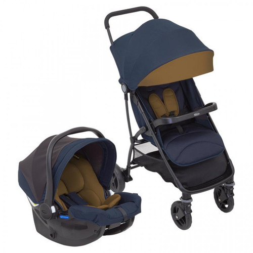 Graco Breaze Lite Travel System with Raincover, Eclipse