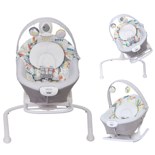 Graco Duet Sway with Portable Rocker, Patchwork 2020