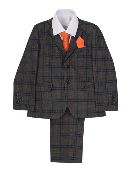 Boys  Check Suit Ideal for  Kids Wedding Suits- Boys Wedding Outfits 914