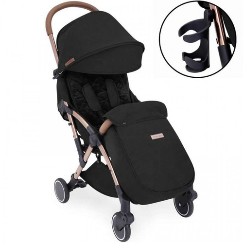 Ickle Bubba Globe Max Stroller, Black on Rose Gold