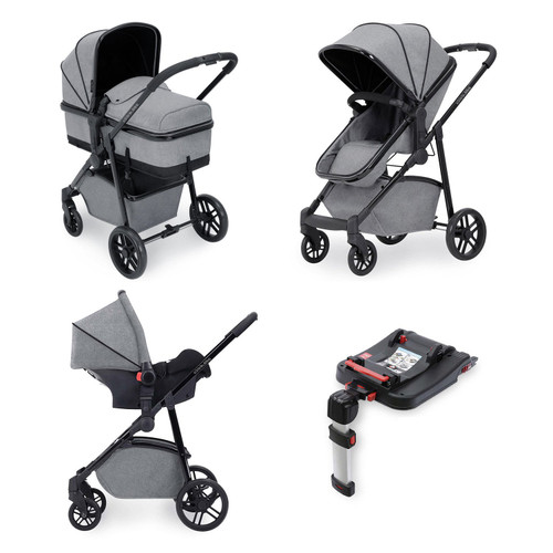 Ickle Bubba® Moon Moon 3-in-1 Travel System with Isofix Base (Space Grey )